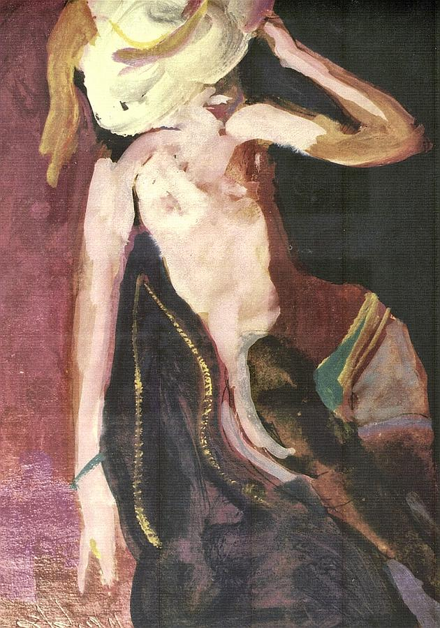 Nude Painting - White Hat by Harry  Weisburd