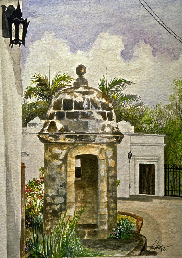 Island Painting - White House-garita by George Bloise