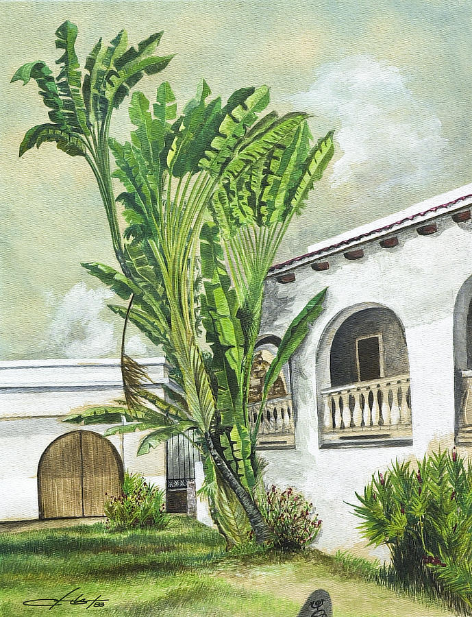 Island Painting - White House San Juan by George Bloise