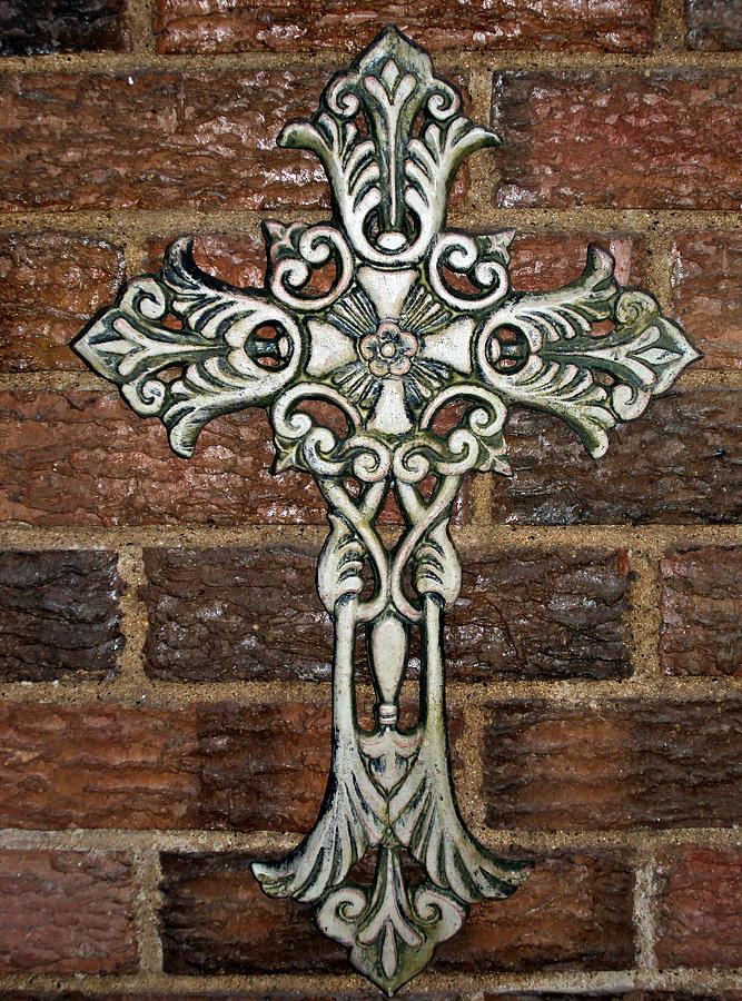 Iron Photograph - White Iron Cross 1 by Angelina Vick