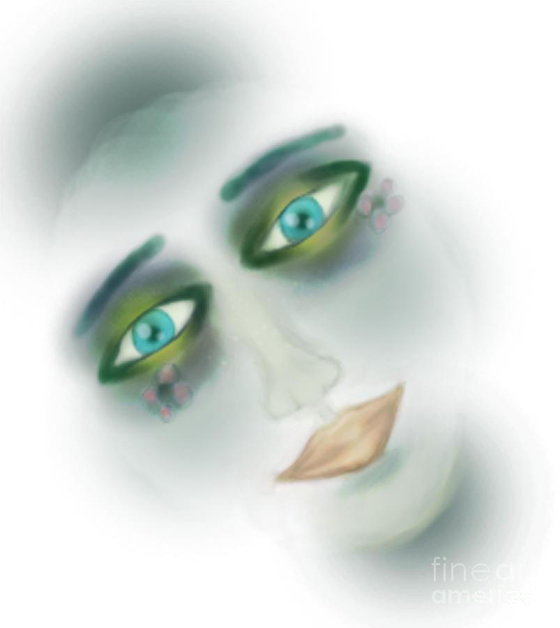 Girl Painting - White by Joanna Kireli