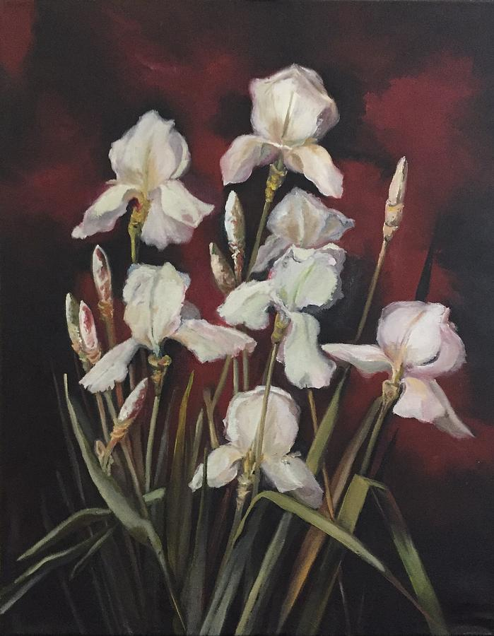 White Lace And Promises Painting by Lorraine Adams