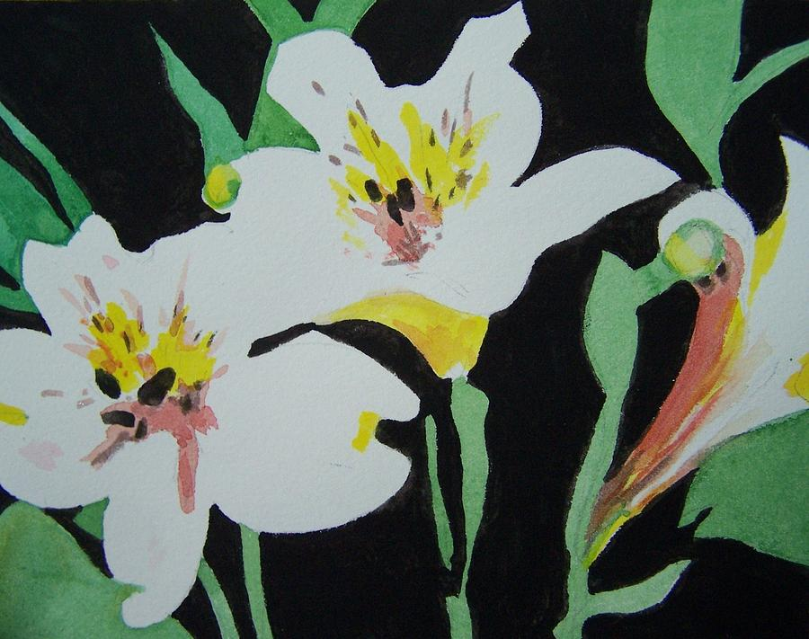 Flowers Painting - White Lilies by Jane Hanson