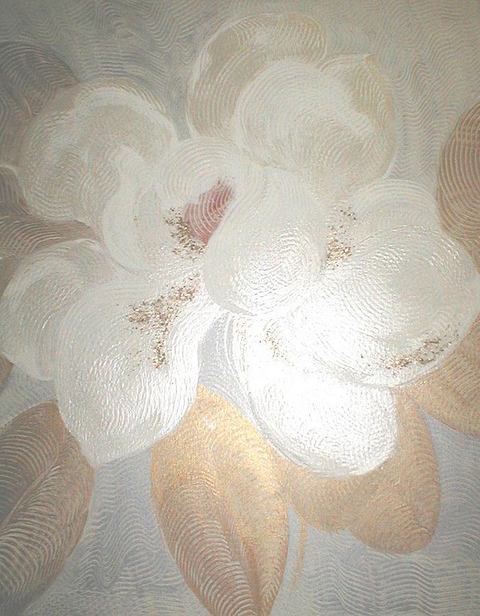 Flowers Painting - White Magnolia by Marja Koskinen-Talavera