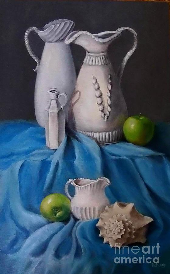 White Painting - White Menagerie  by Patricia Lang