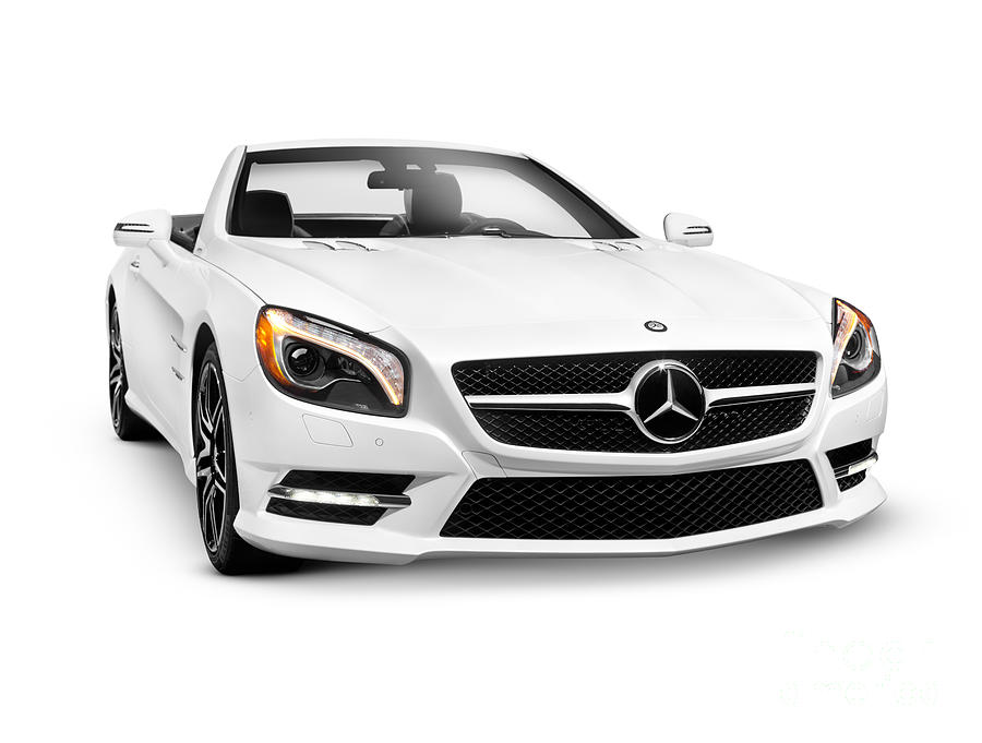 White Mercedes Benz Sl550 Roadster Convertible Luxury Car Photograph By Oleksiy Maksymenko