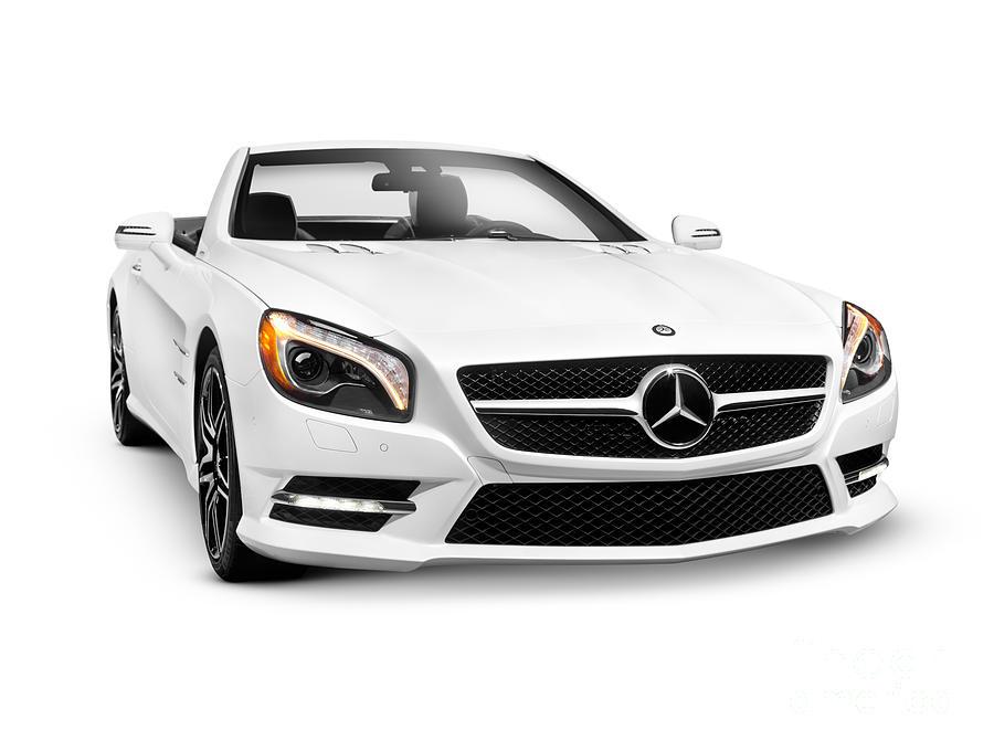 White mercedes benz sl550 roadster convertible luxury car for Mercedes benz luxury car