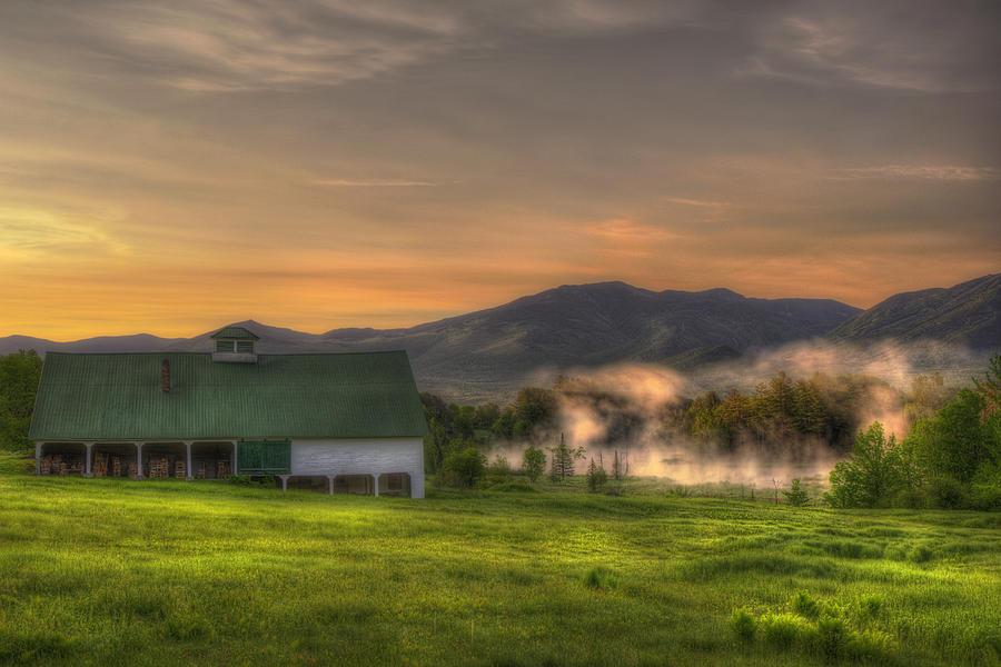 Mountain Scenes Photograph - White Mountain Sunrise - New Hampshire by Joann Vitali