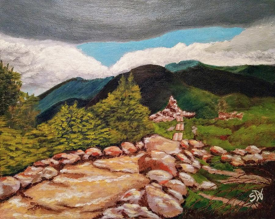 White Mountains Painting - White Mountains Hiking Trail by Sheri Doyon
