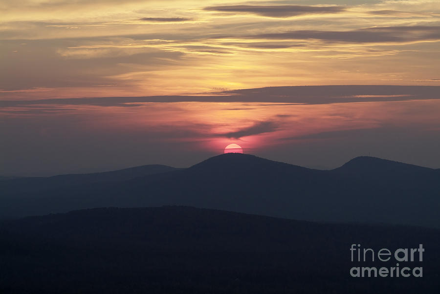 Alpenglow Photograph - White Mountains Nh - Sunset by Erin Paul Donovan
