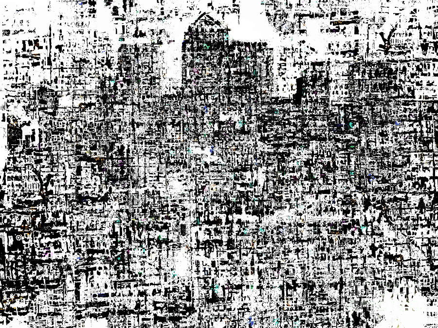 Canary Wharf Digital Art - White Noise  by Andy  Mercer