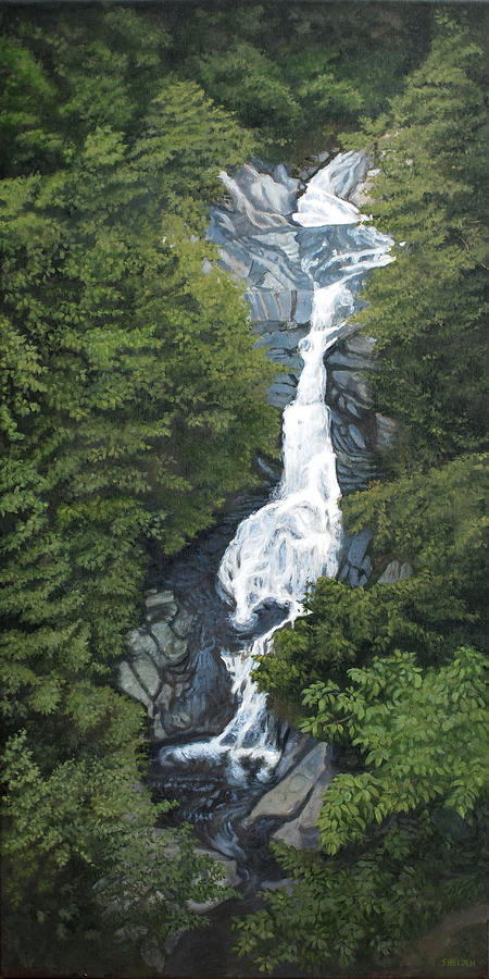 White Oak Canyon Painting by Suzanne Shelden