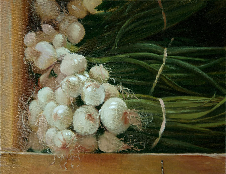Onions Painting - White Onions by Michael Lynn Adams