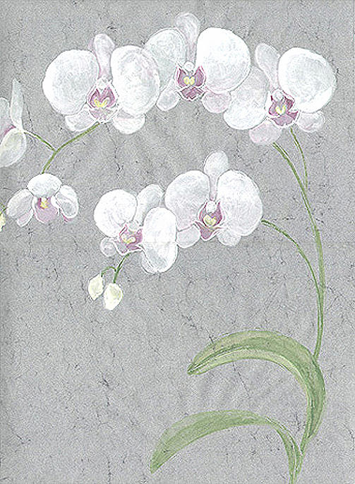 Orchids Painting - White Orchids On Sprigs  by Marja Koskinen-Talavera