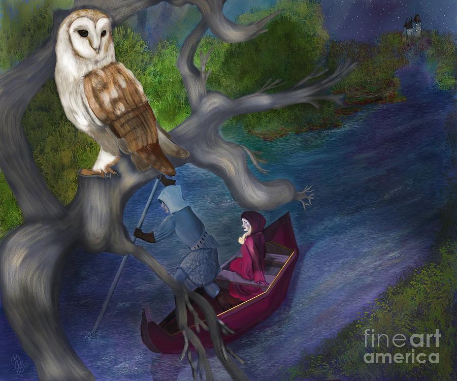 Owl Digital Art - White Owl Magic by Sydne Archambault