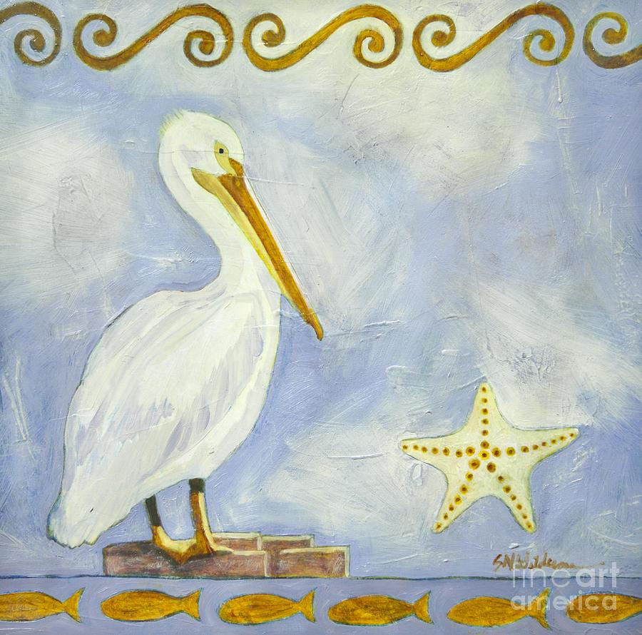 White Pelican by Sandra Neumann Wilderman