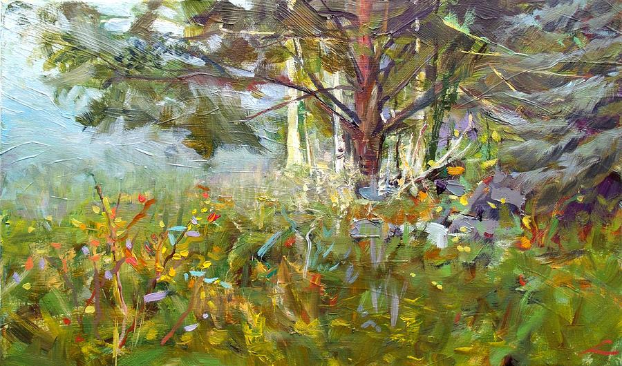Landscape Painting - White Pine by Elena Sokolova