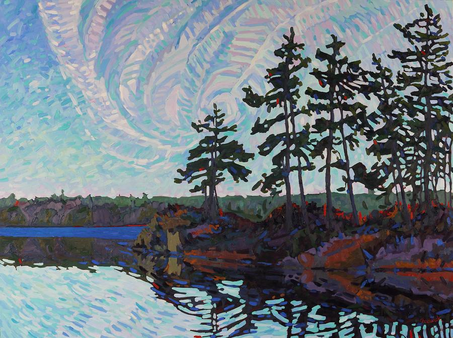 December Painting - White Pine Island by Phil Chadwick