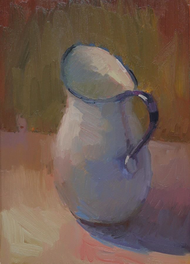 White Pitcher Painting - White Pitcher by Kathryn Townsend