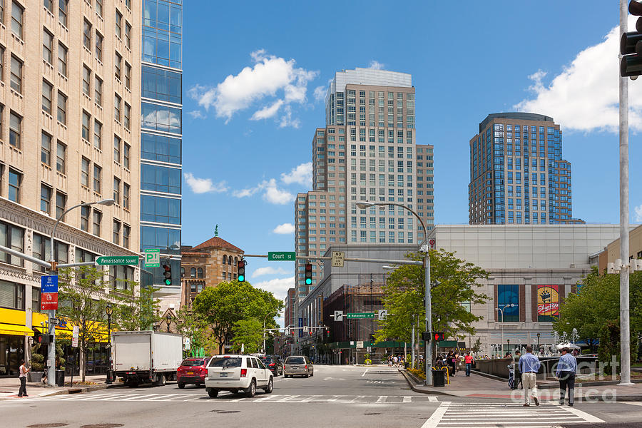 White Plains New York Skyline I Photograph by Clarence Holmes