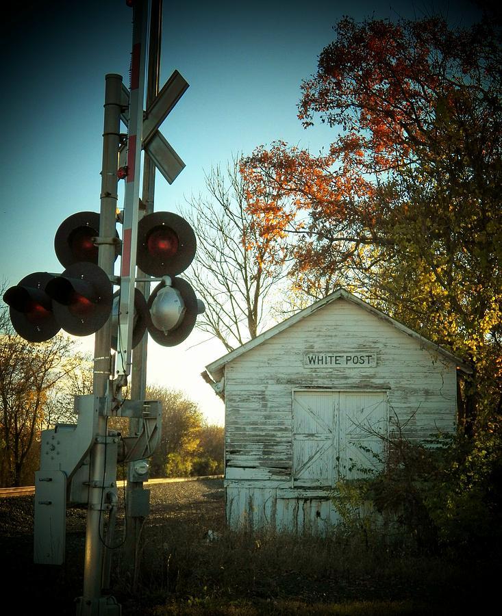 Train Station Photograph - White Post Station by Joyce Kimble Smith