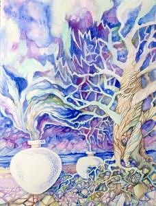 Pots Painting - White Pots by Jane Priser