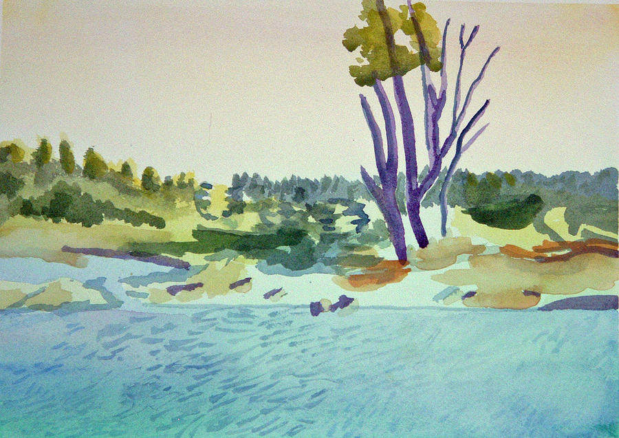White River at Sharon after Edward Hopper by Paul Thompson