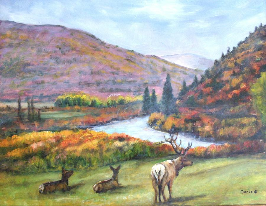Landscape Painting - White River by Darla Joy  Johnson