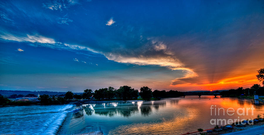 Sunset Photograph - White River Sunset by Clayton Cavaness