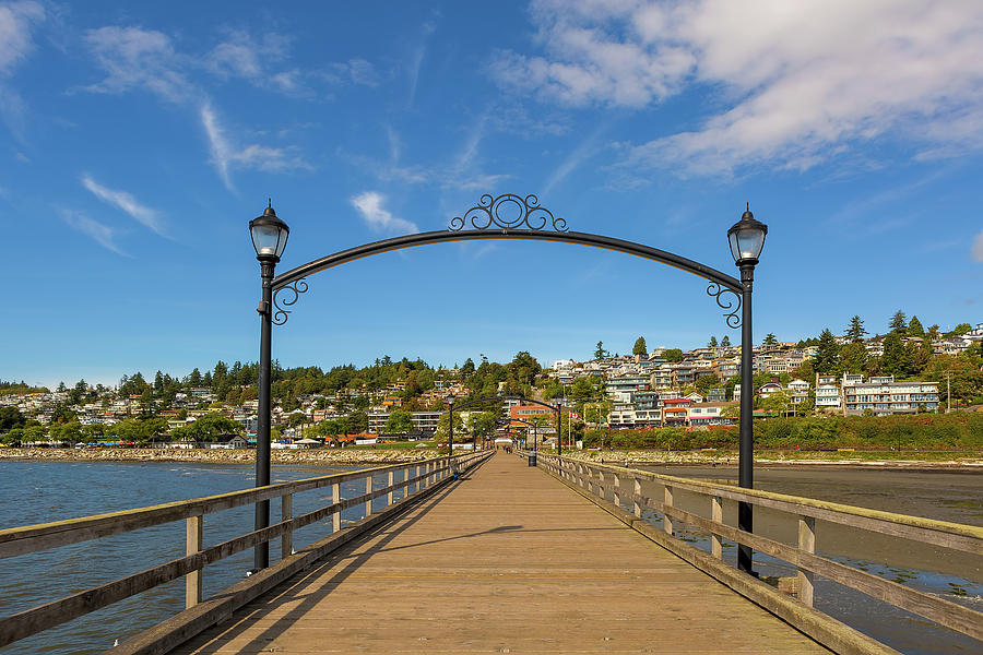 White Rock Photograph - White Rock Pier In Bc Canada by David Gn
