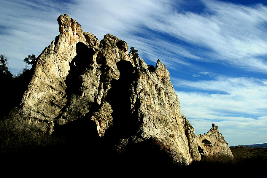 Garden Of The Gods Photograph - White Rocks by Anthony Jones