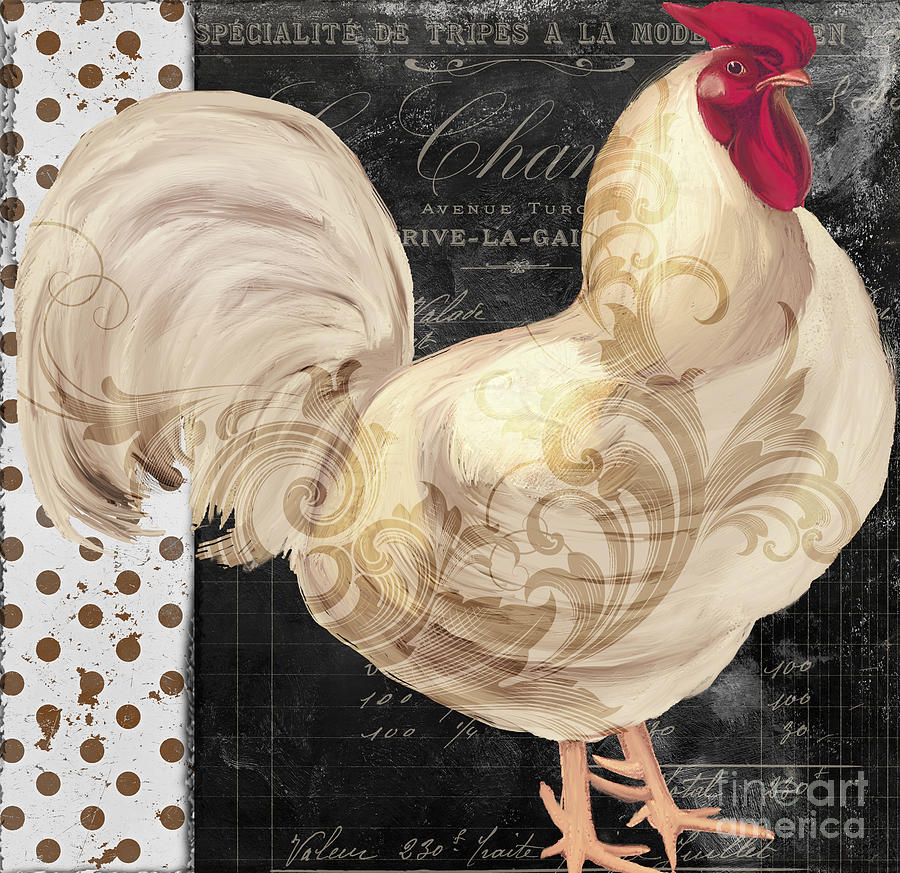 White Rooster Cafe I Painting