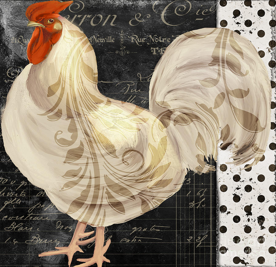 White Rooster Cafe II Painting
