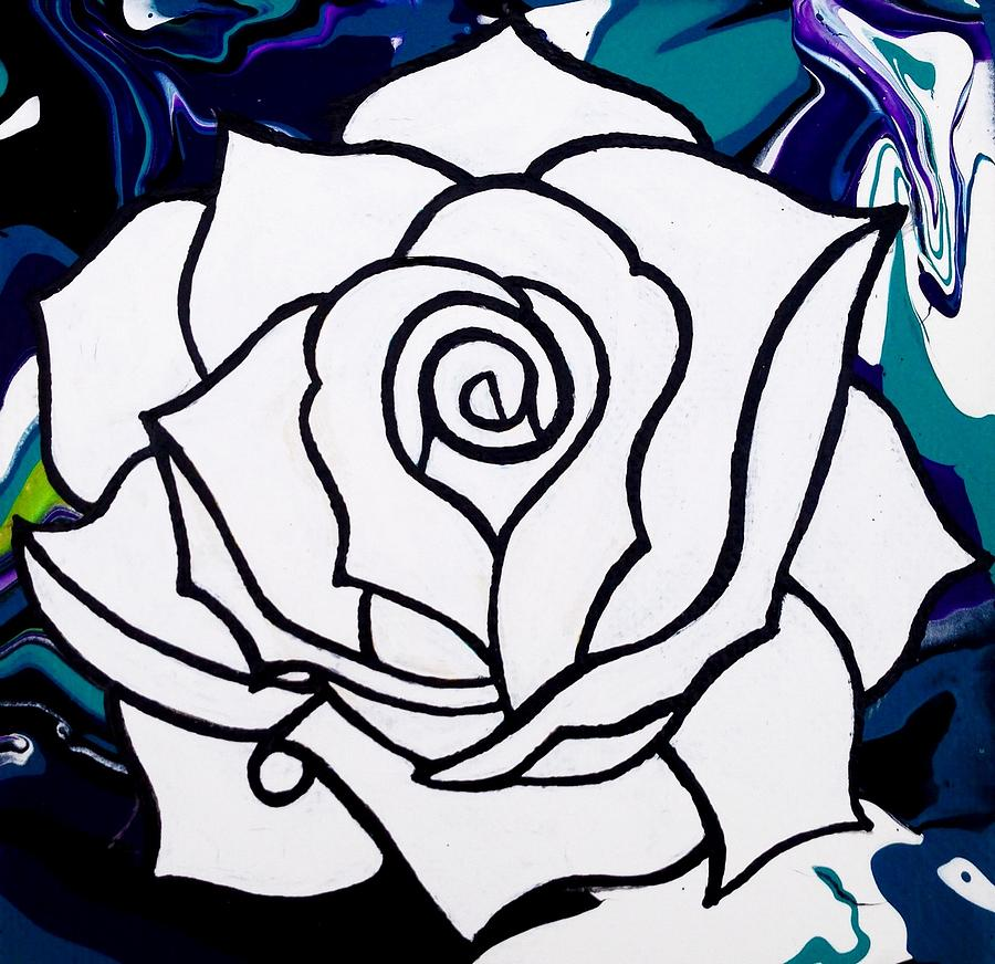 Whiterose Photograph - White Rose by Annie Walczyk