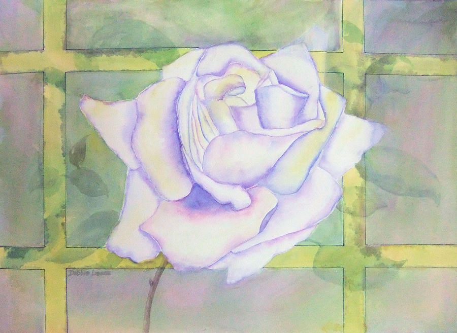 Watercolor Painting - White Rose by Debbie Lewis