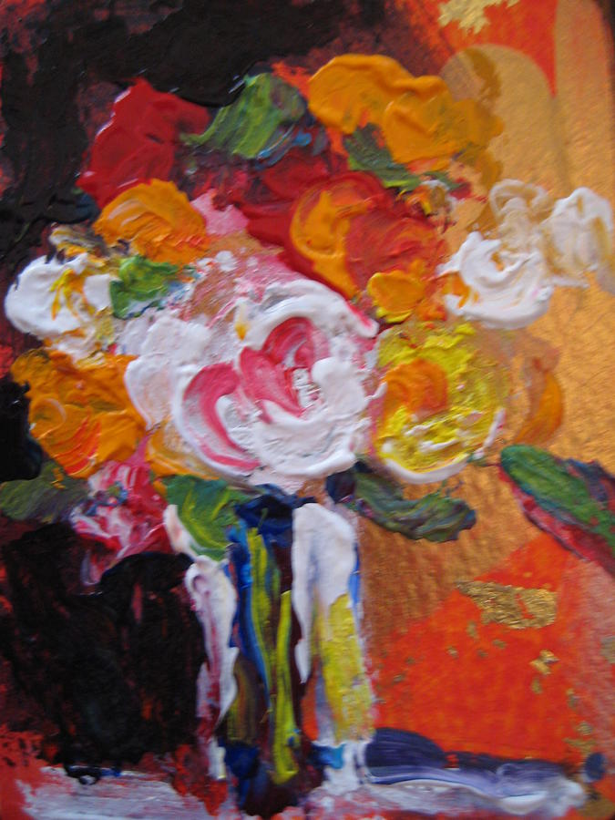 Still Life Painting - White Rose Floral by Susan Jenkins