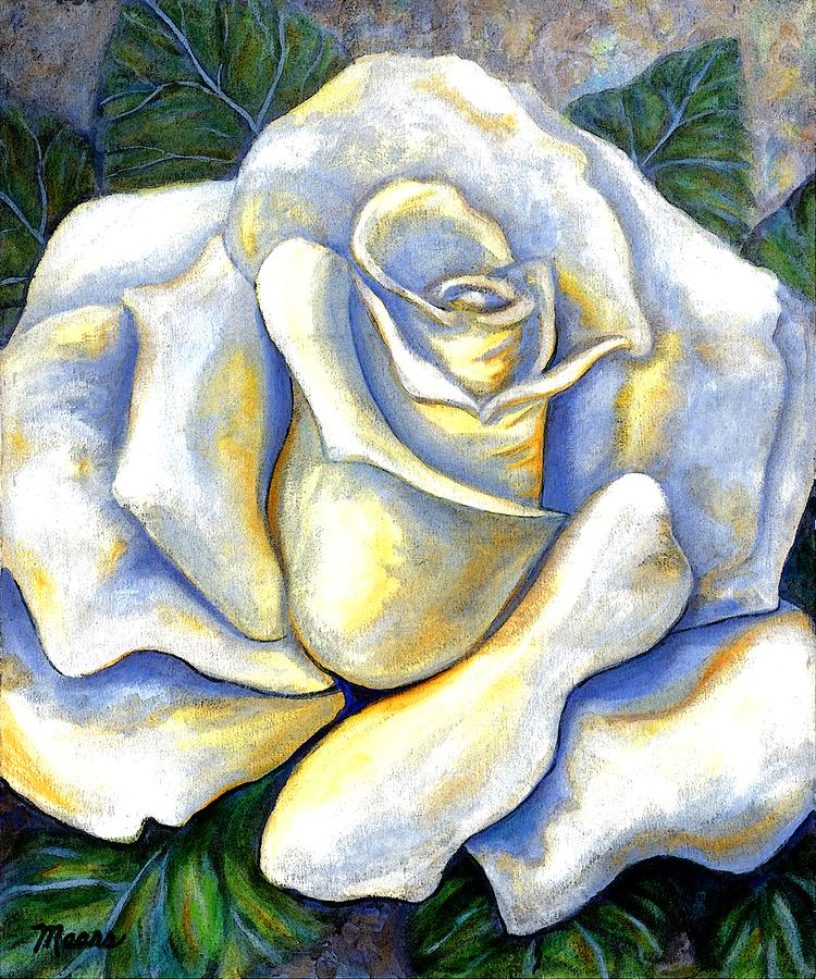 Rose Painting - White Rose Two by Linda Mears
