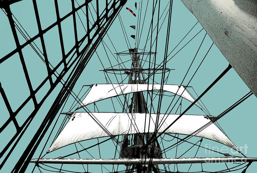 Boat Photograph - White Sails At Dawn by Linda  Parker
