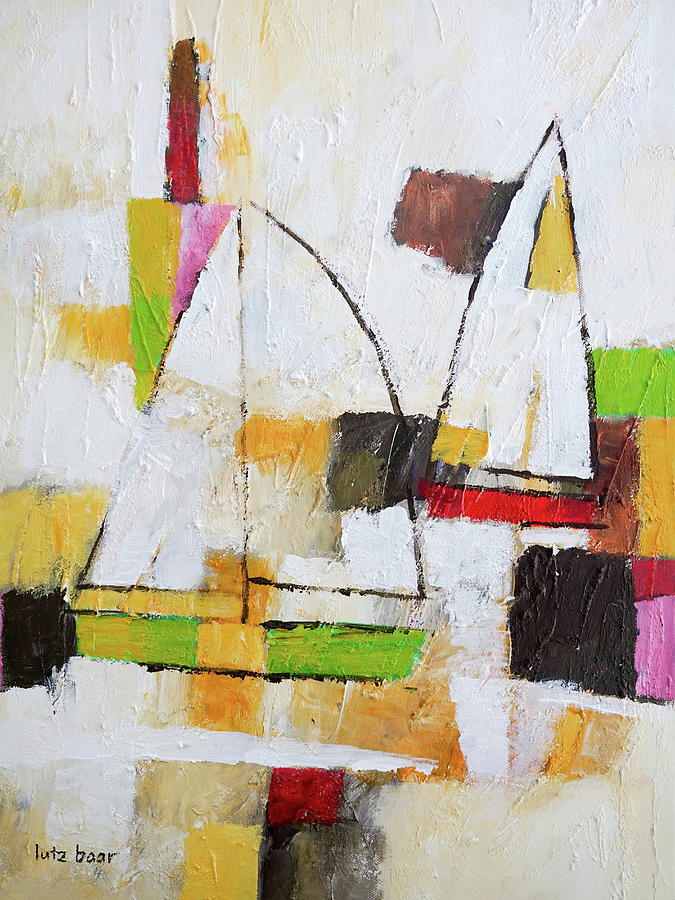 Modern Painting - White Sails by Lutz Baar