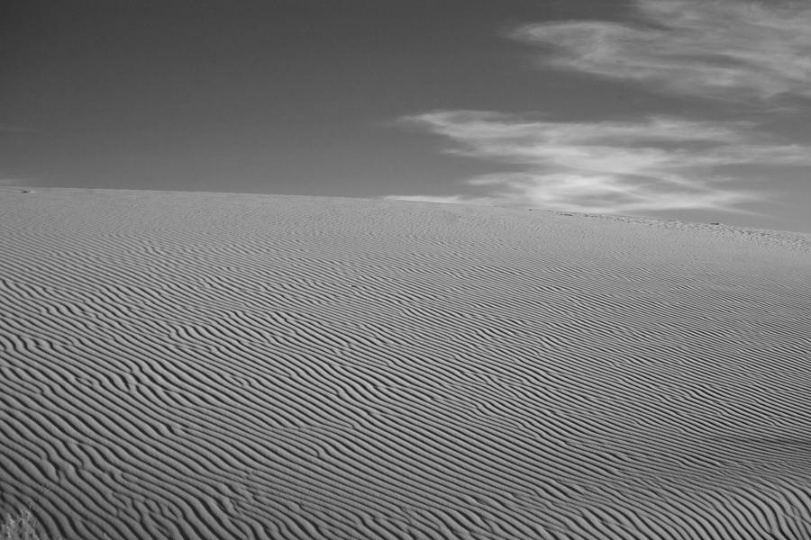 Black & White Photograph - White Sands Dune by Peter Tellone