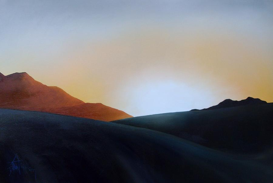 Sunset Painting - White Sands Sunset by Debbie Anderson