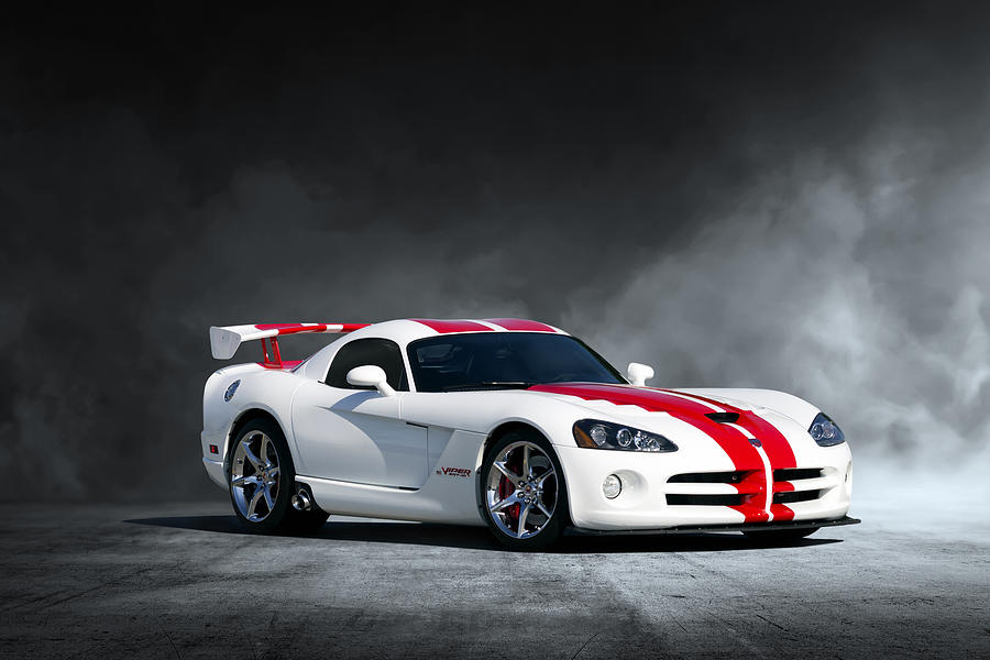 Dodge Digital Art - White Snake by Peter Chilelli