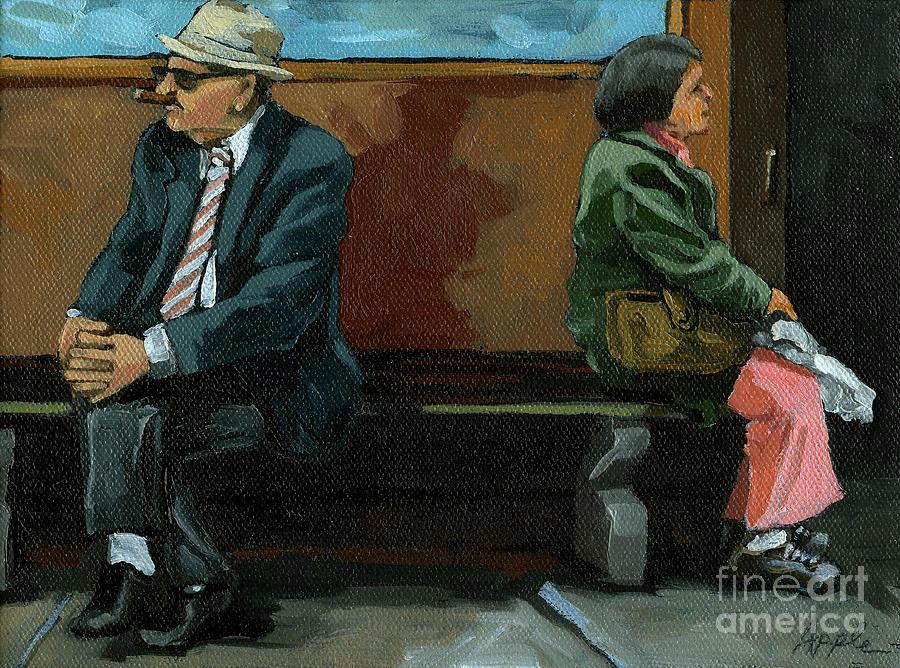 Man & Woman Painting - White Socks by Linda Apple