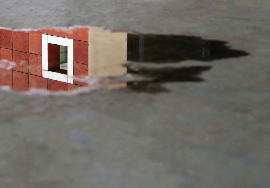 White Square Water Reflection by Prakash Ghai