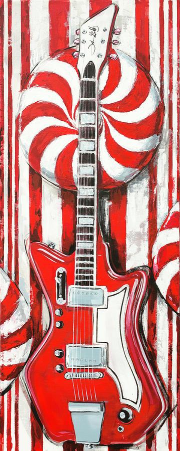 White Stripes Guitar by John Gibbs