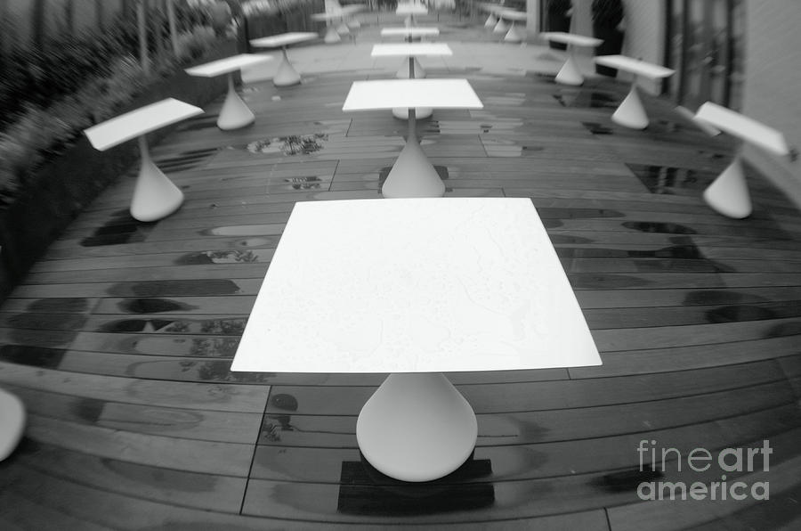 White Tables Photograph