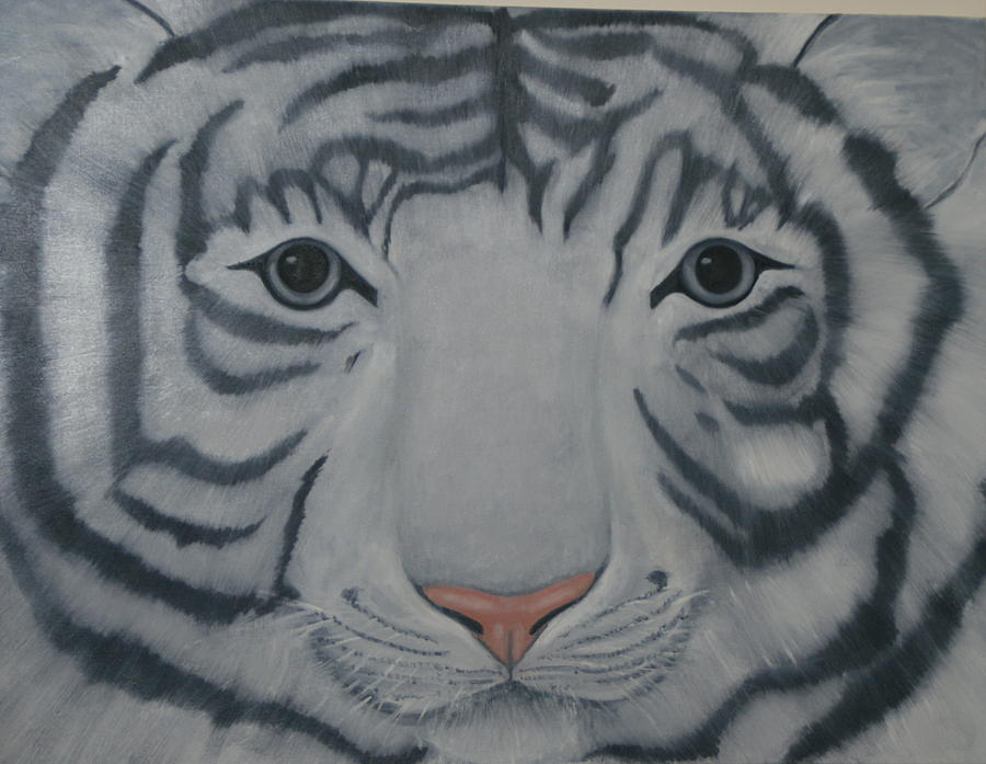 White Tiger Painting - White Tiger by Toni Berry