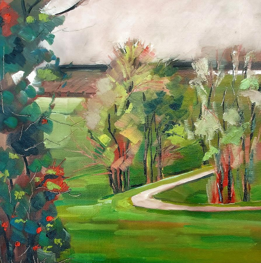 White Trail Painting