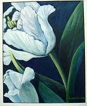 Floral Painting - White Tulip by Eileen Kasprick