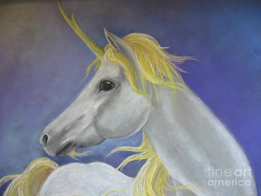 Unicorn Pastel - White Unicorn by Dianna West